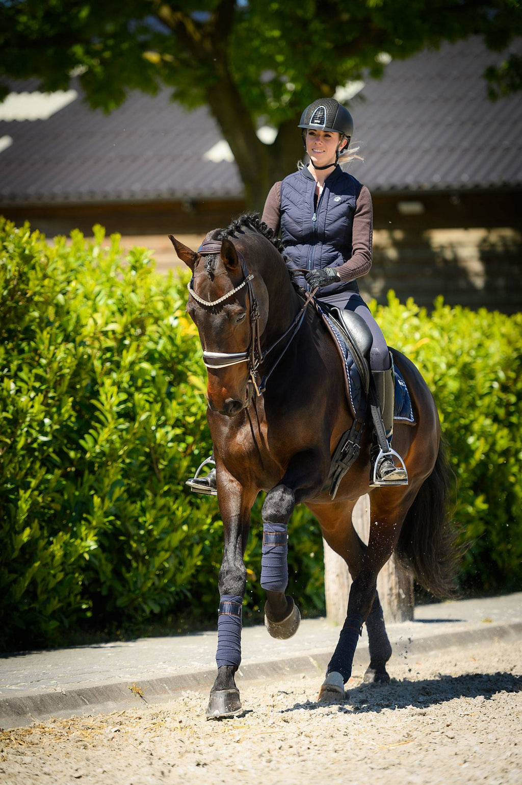 PS of Sweden Dressage Saddle Pad Sapphire - The Dressage Store