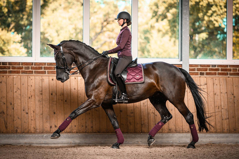 PS Of Sweden Dressage Saddle Pad - Wine - The Dressage Store