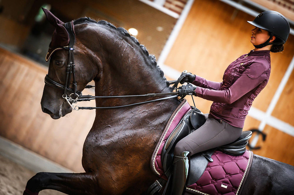 PS Of Sweden Dressage Saddle Pad Wine - The Dressage Store