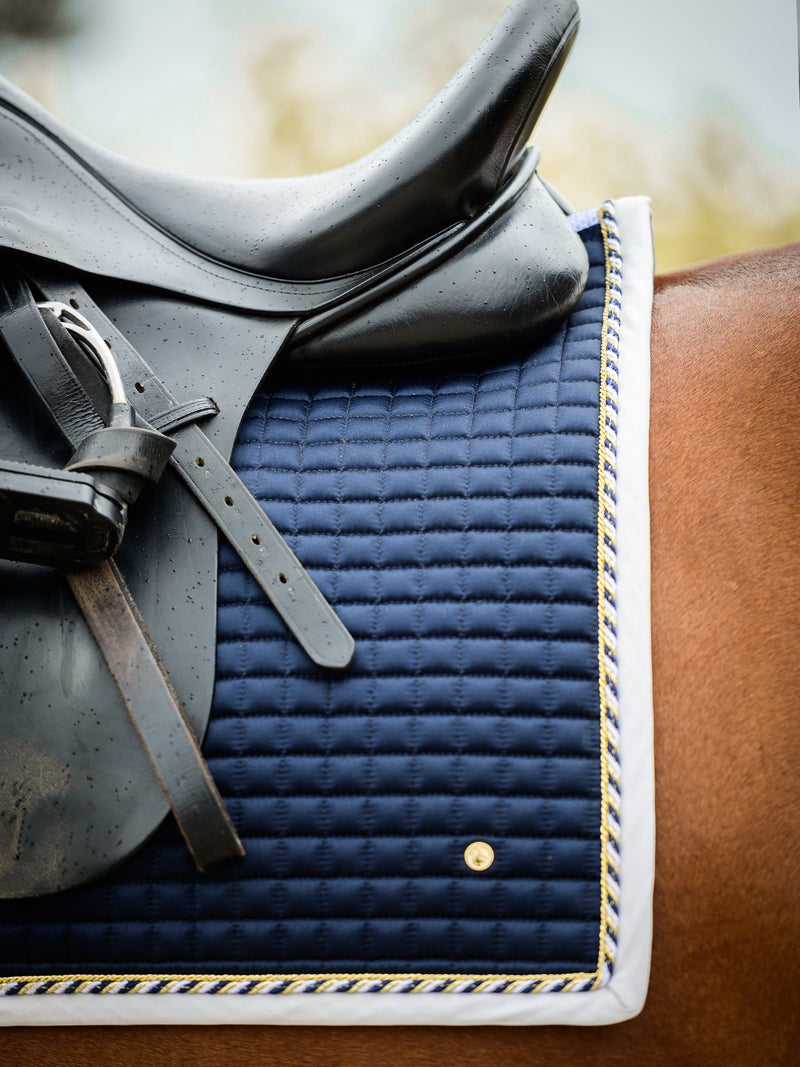 PS of Sweden Pro 2 Navy Dressage Saddle Pad - The Dressage Store