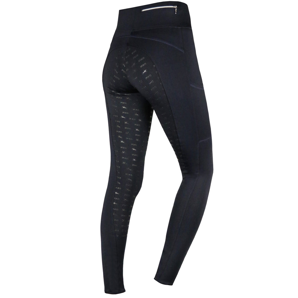 Schockemohle Pocket Riding Tights - Ocean - The Dressage Store