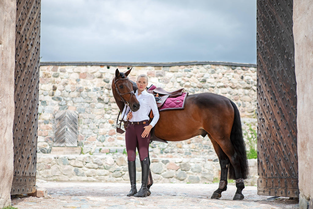 PS of Sweden Robyn Breech - Merlot - The Dressage Store