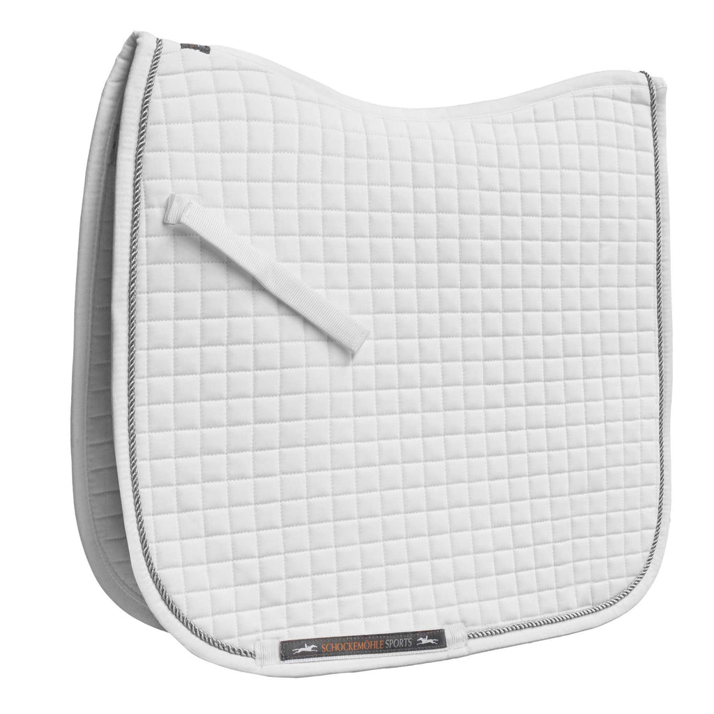 Schockemöhle Neo Star Dressage Pad - White - The Dressage Store