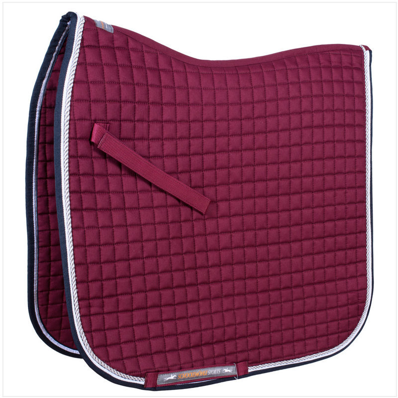 Schockemöhle Neo Star Dressage Pad - Merlot - The Dressage Store