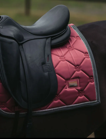 Equestrian Stockholm Dressage Saddle Pad - Winter Rose - The Dressage Store
