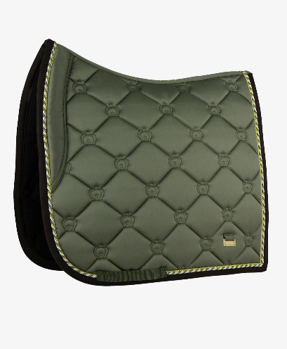 PS of Sweden Dressage Saddle Pad - Moss - The Dressage Store