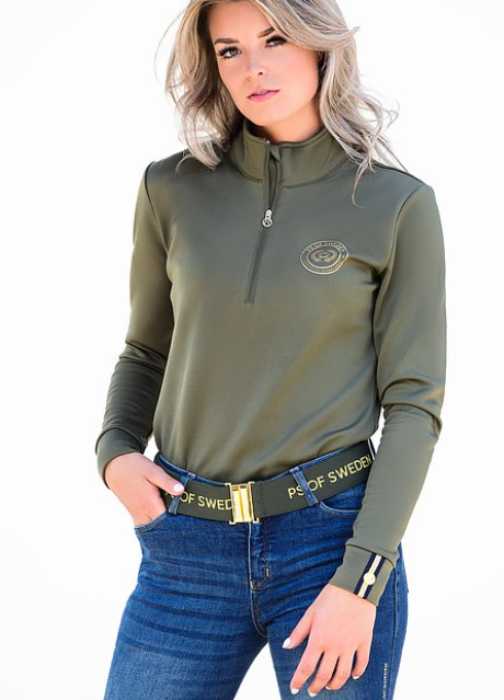 PS of Sweden Bianca Base Layer - Moss - The Dressage Store