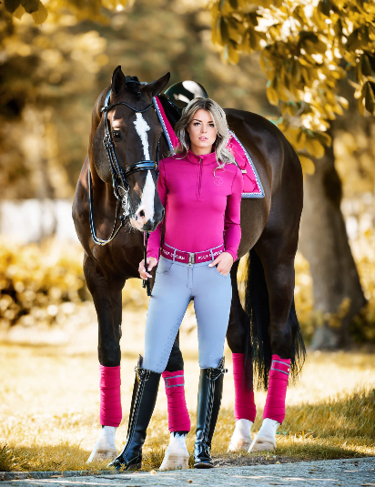 PS of Sweden Polo Wraps - Scarlet - The Dressage Store