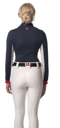 Kastel Denmark Navy, Red and White Sun Shirt - The Dressage Store