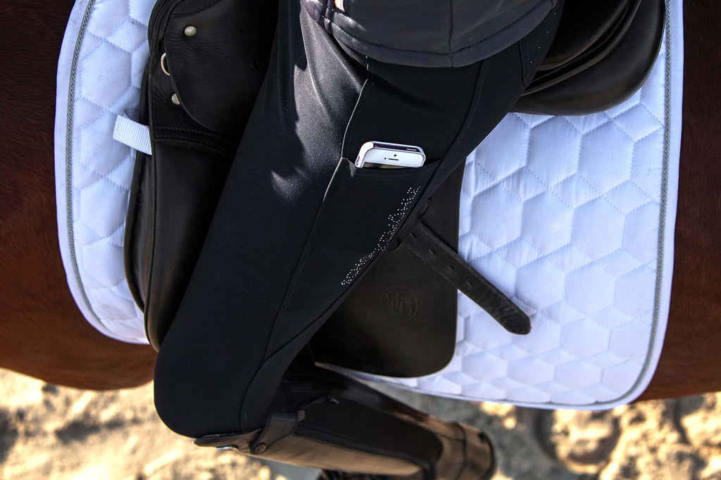 Schockemöhle Full Seat Victory Riding Breeches - Midnight Blue - The Dressage Store