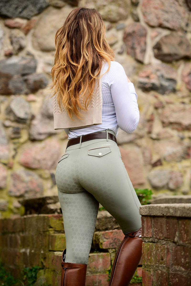 PS of Sweden Weronika Breech - Sage - The Dressage Store