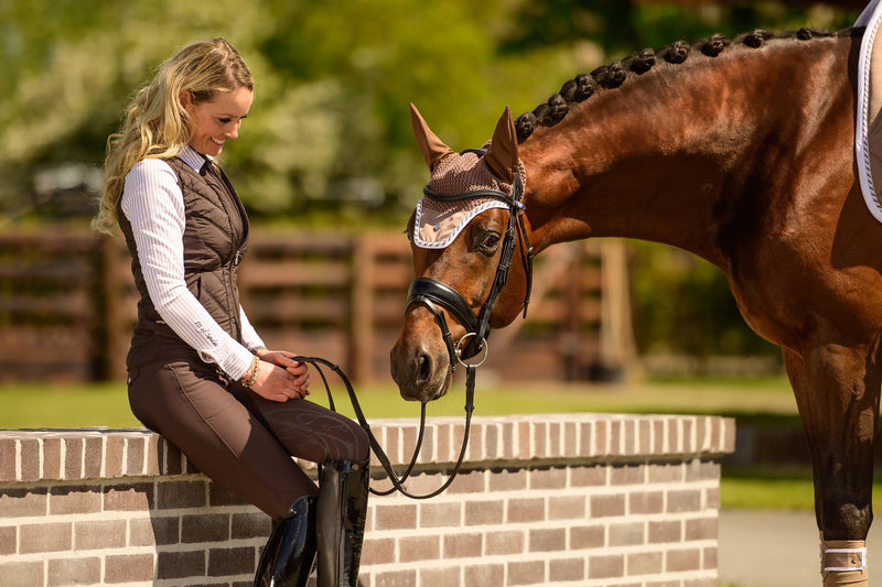 "PS of Sweden ""Zoe"" Breeches Chocolate - The Dressage Store"