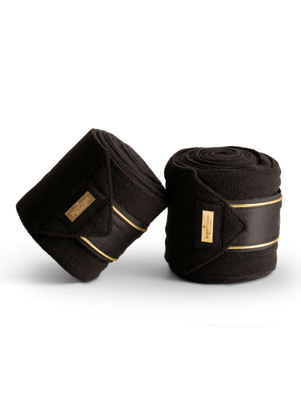 Equestrian Stockholm Polo Wraps - Black Gold Edition - The Dressage Store