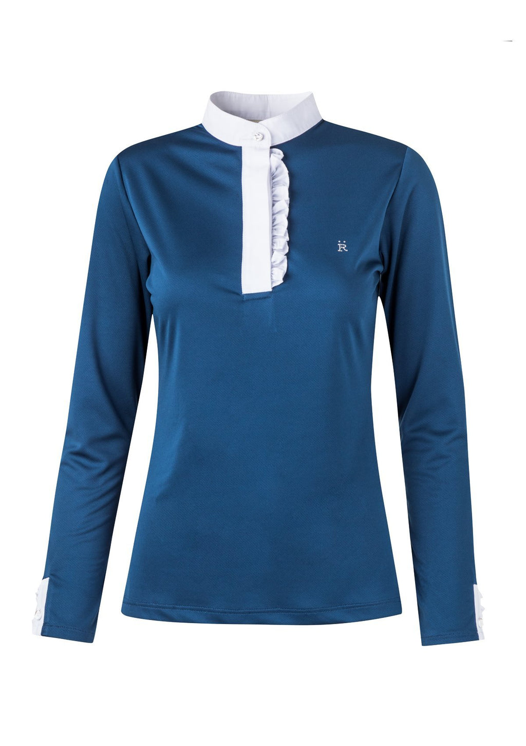 Ronner Bianca Show Shirt Navy - The Dressage Store