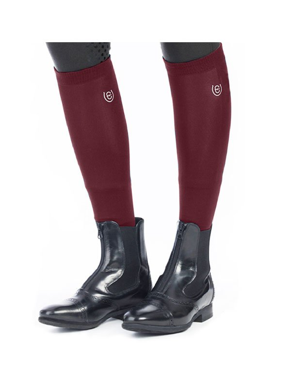 Equestrian Stockholm Riding Socks - Bordeaux - The Dressage Store
