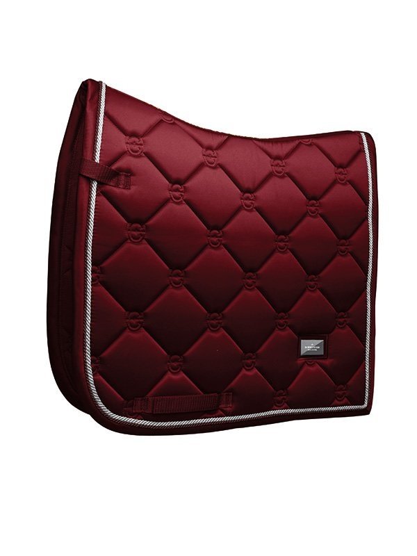 Equestrian Stockholm Dressage Saddle Pad - Bordeaux - The Dressage Store