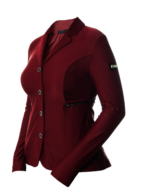 Equestrian Stockholm Competition Jacket - Bordeaux - The Dressage Store