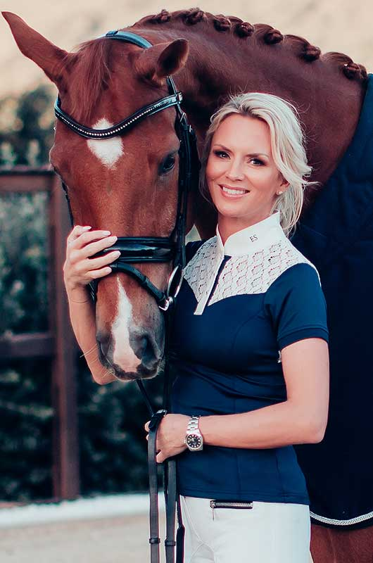 Equestrian Stockholm Competition Shirt - Champion White/Navy - The Dressage Store