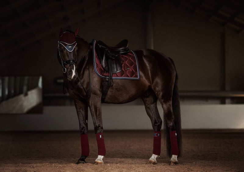 Equestrian Stockholm Polo Wraps - Merlot Crystal - The Dressage Store