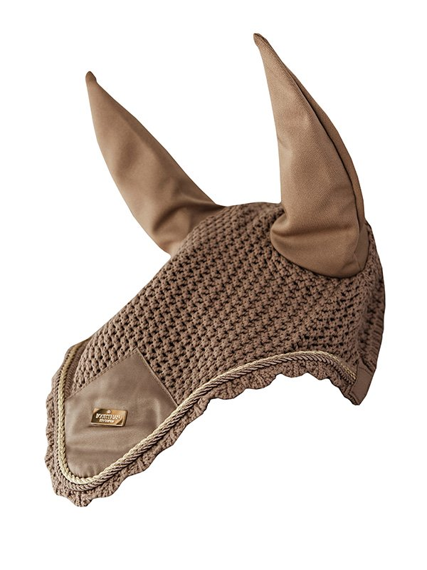 Equestrian Stockholm Ear Bonnet - Champagne - The Dressage Store