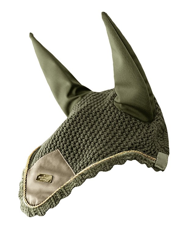 Equestrian Stockholm Ear Bonnet - Olive Green - The Dressage Store