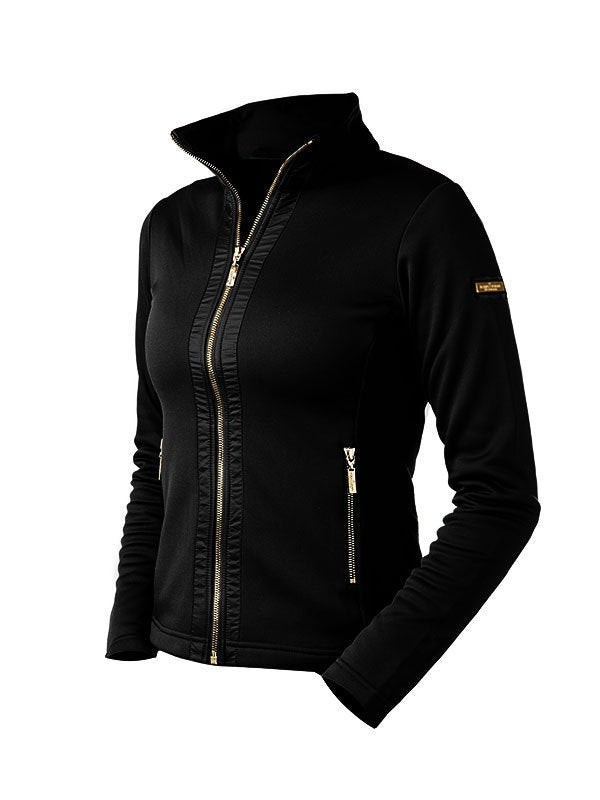 Equestrian Stockholm Fleece Jacket - Black - The Dressage Store