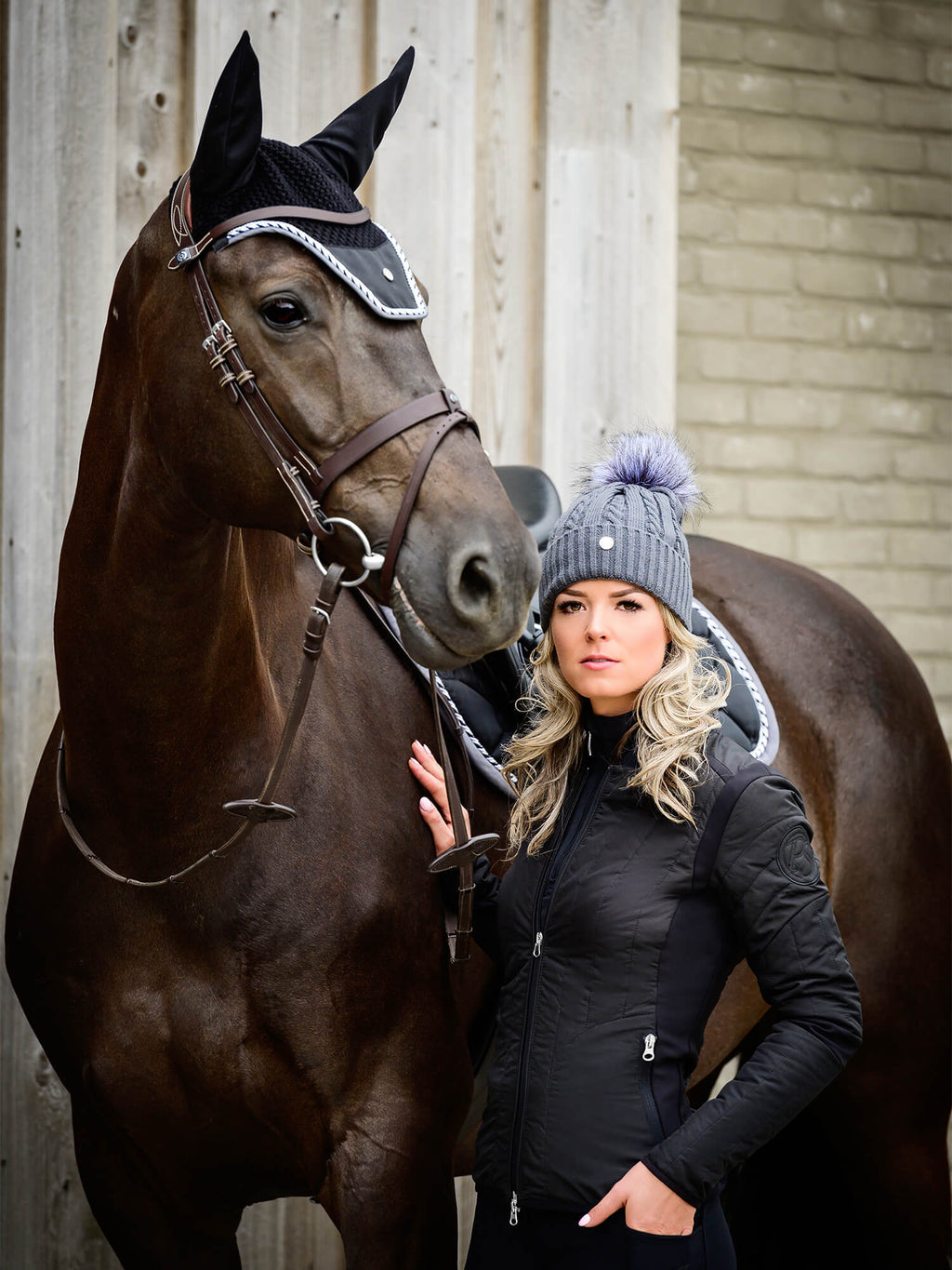 PS of Sweden Fly Hat Black - The Dressage Store