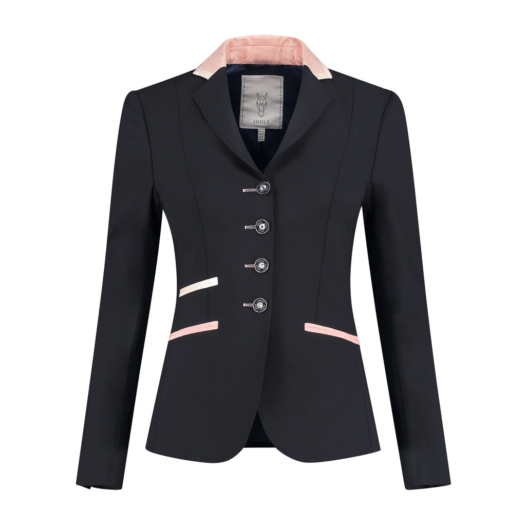 Juuls Classic Short Competition Jacket - Navy & Rose Gold - The Dressage Store