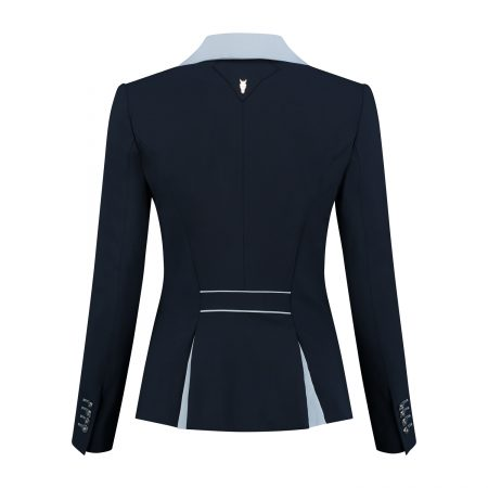 Juuls Classic Short Competition Jacket - Navy and Light Blue with Swarovski® Elements - The Dressage Store
