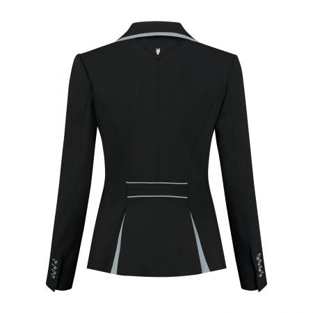 Juuls Classic Short Competition Jacket - Navy, White and Grey - The Dressage Store