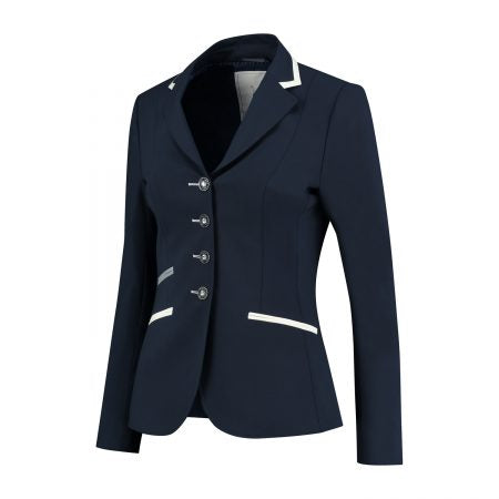 Navy, White and Grey Competition Jacket - The Dressage Store