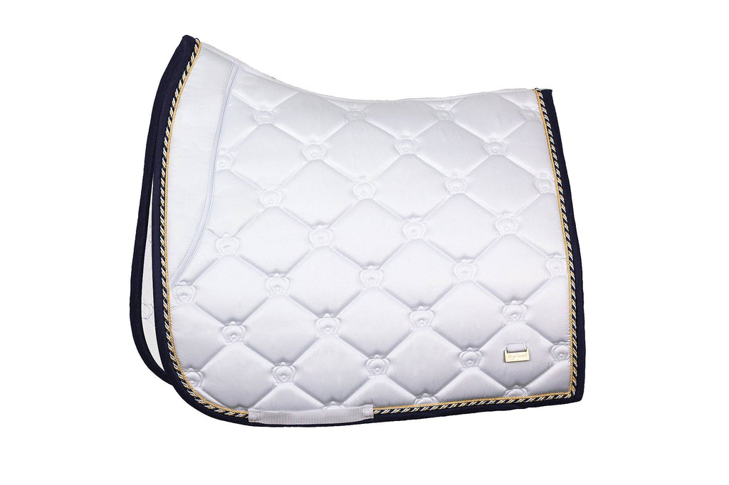 PS of Sweden Lap of Honor Saddle Pad - White - The Dressage Store