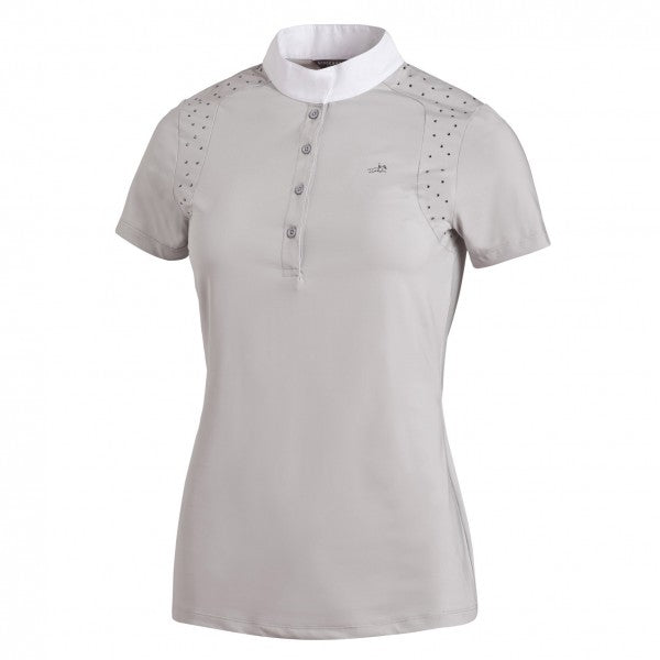 Schockemohle Meredith UV Show Shirt - Silver - The Dressage Store