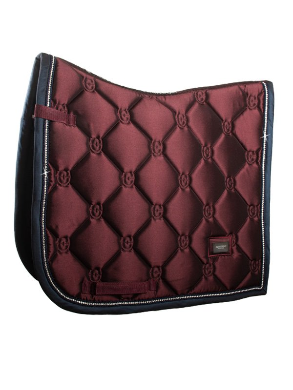 Equestrian Saddle Pad Merlot with Crystal - The Dressage Store