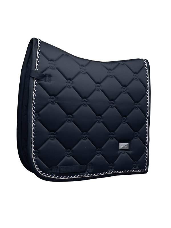 Equestrian Stockholm Midnight Blue Dressage Saddle Pad - The Dressage Store