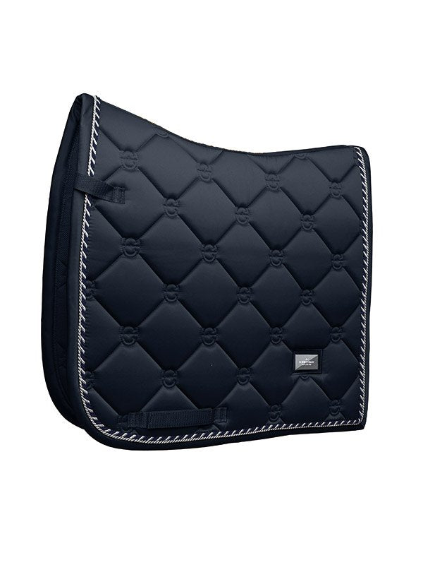 Equestrian Stockholm Dressage Saddle Pad - Midnight Blue - The Dressage Store