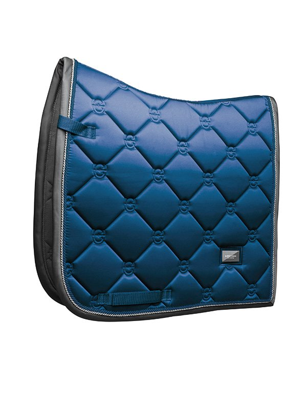Equestrian Stockholm Dressage Saddle Pad - Moroccan Blue - The Dressage Store