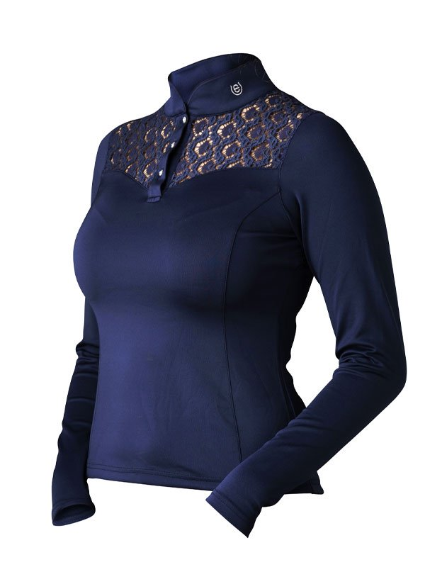 Equestrian Stockholm Champion Long Sleeve - Navy - The Dressage Store