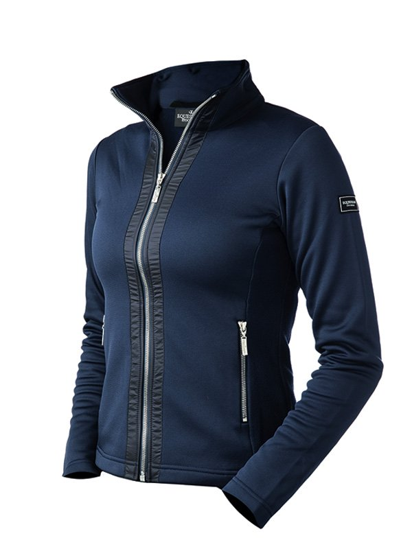 Equestrian Stockholm Fleece Jacket - Navy - The Dressage Store