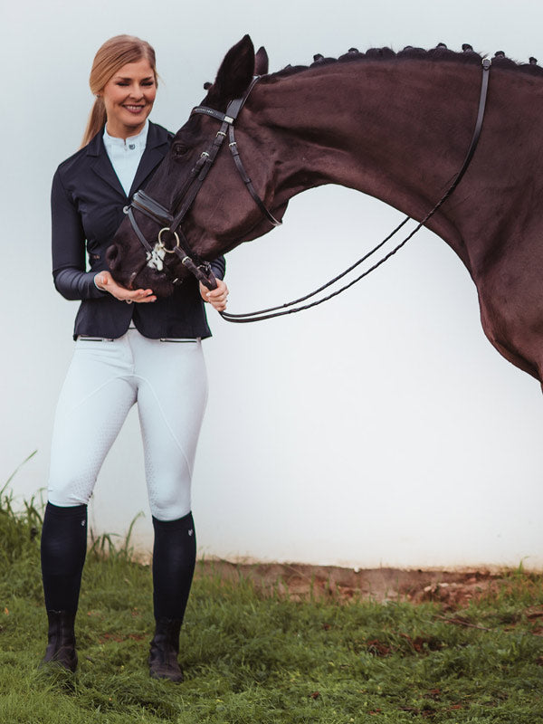 Equestrian Stockholm Competition Jacket Navy - The Dressage Store
