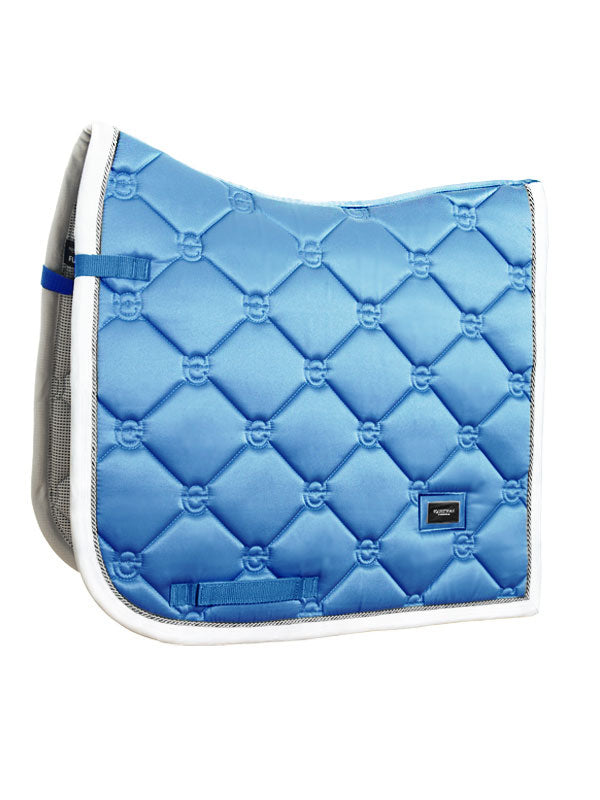 Equestrian Stockholm Dressage Saddle Pad - Parisian Blue - The Dressage Store