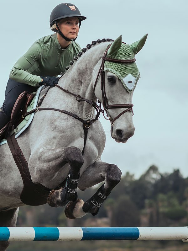 Equestrian Stockholm Ear Bonnet - Pistachio - The Dressage Store