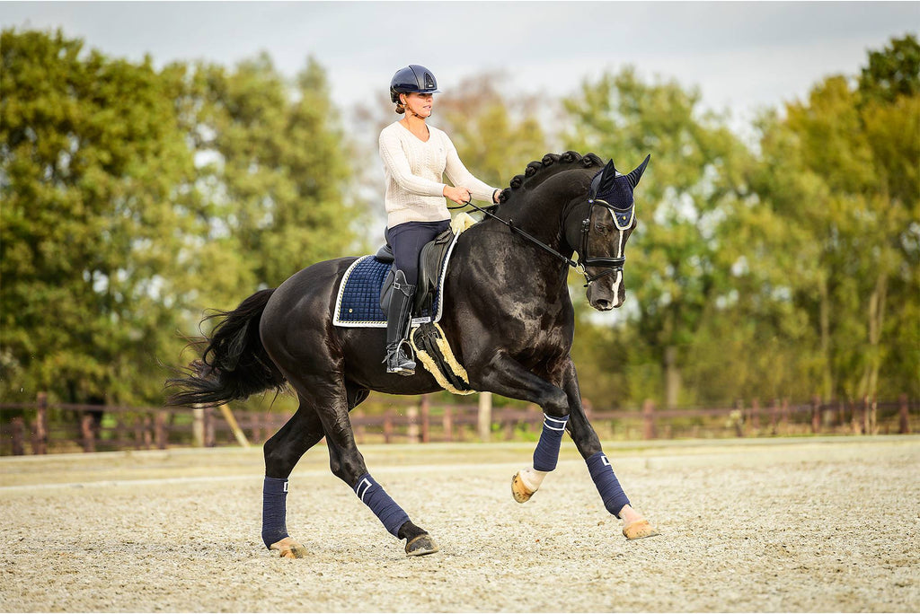PS of Sweden PRO Collection Dressage Saddle Pad - Navy - The Dressage Store