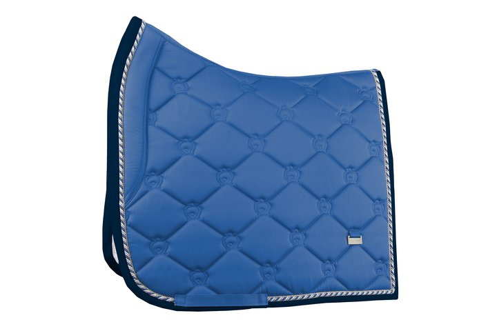 PS of Sweden Spring Collection Dressage Saddle Pad - Blueberry - The Dressage Store
