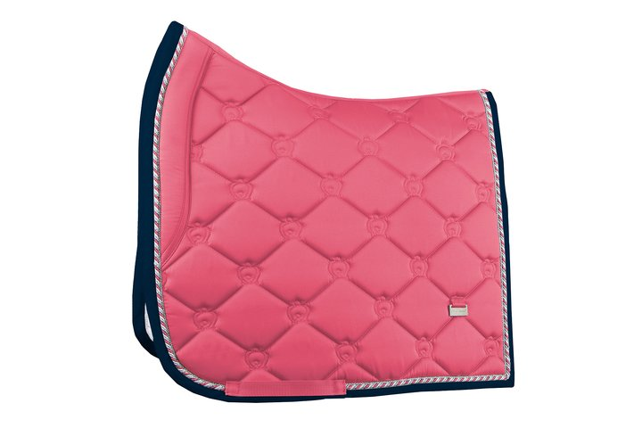 PS of Sweden Spring Collection Dressage Saddle Pad - Cranberry - The Dressage Store