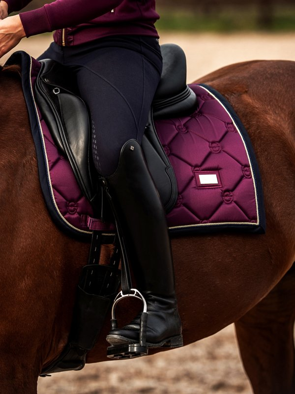 Equestrian Stockholm Dressage Saddle Pad - Purple Gold - The Dressage Store