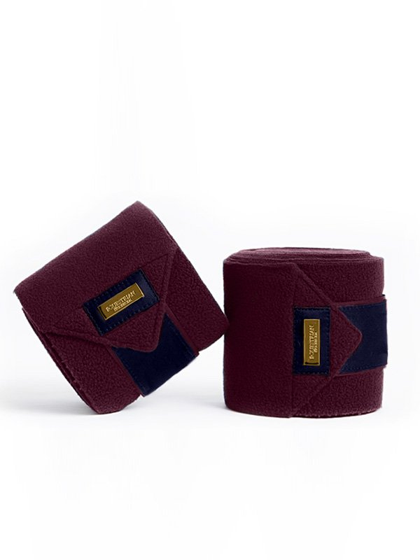 Equestrian Stockholm Polo Wraps - Purple Gold - The Dressage Store