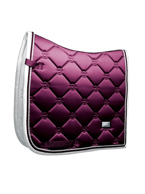 Equestrian Stockholm Dressage Saddle Pad - Purple White Edge - The Dressage Store