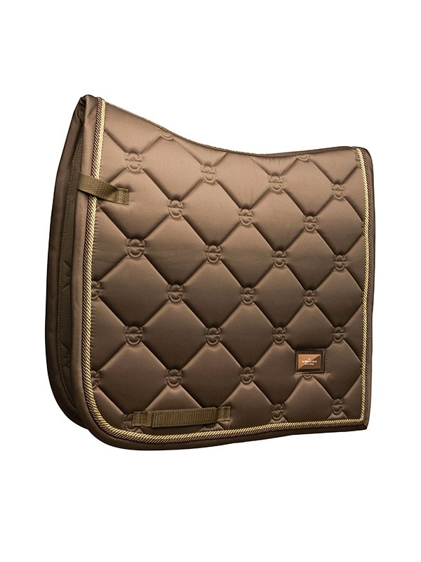 Equestrian Stockholm Dressage Saddle Pad - Champagne - The Dressage Store