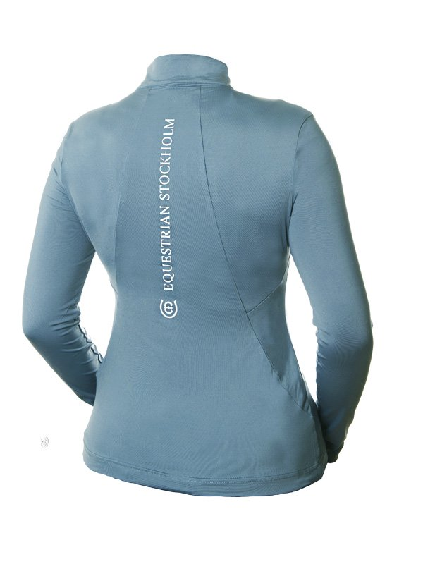 Equestrian Stockholm UV Protection Top - Steel Blue - The Dressage Store